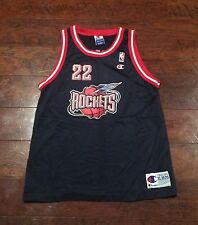 Champion Clyde Drexler Houston Rockets Jersey Youth Away Game XL 18-20 NBA Vtg