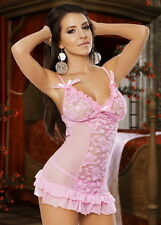 **$59** XL Babydoll Chemise Bridal Thong Queen Lingerie Sleepwear Set Lingere