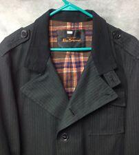 Ben Sherman Medium Jacket Black Military Coat Button Up 3-Pocket Field Jacket