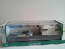 AUSTIN HEALEY 100/6 & CAMPER 1:43 CARARAMA NEW IN BOX.