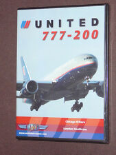JUST PLANES COCKPIT VIDEO DVD        UNITED AIRLINES   777-200     new & sealed