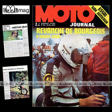 MOTO JOURNAL N°92 HONDA CB 750 FOUR : SIDE-CAR GERARD JUMEAUX FATH ALICE 1972