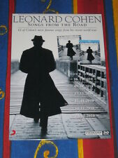 LEONARD COHEN -  2010  Australian Tour - Songs From The Road  - Laminated Poster