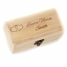 Personalised Engraved Treasure Chest 10cm Jewellry Box Valentines Day Gift Love
