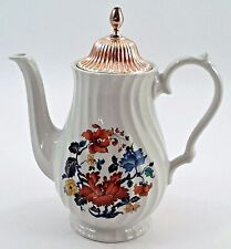 Lovely Myott Meakin England Dynasty Kismet Coffee Pot Teapot w/ Cast Metal Lid
