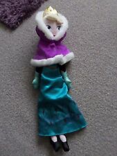 DISNEY STORE FROZEN ANNA WITH CAPE TEDDY PLUSH SOFT DOLL TOY KIDS GIRLS BOYS