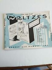 You Can Play Waltzes Level 3 for the Early Grade Pianist. 1956 Boosey & Hawkes