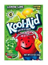 10 Packs Kool-Aid LEMON-LIME Unsweetened Drink Mix Packets