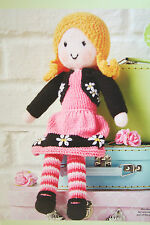 Little Miss Muffet Doll Toy Knitting Pattern