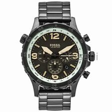 Fossil Original JR1517 Men's Nate Compas Gunmetal Stainless St Watch 50mm Chrono