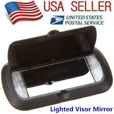 New LED Lighted Black Clip On Sun Visor Vanity Mirror For Car Automobile Light