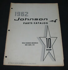 Parts Catalog Johnson Sea Horse Models QD QDL 23 10 HP Ersatzteilkatalog 1962!