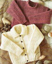 """1430 Baby Boy Girl Aran Jacket & Sweater Vintage Knitting Pattern 20-30"""""""