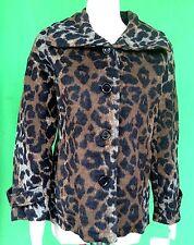 NWT J S lady women Leopard 41% wool blend outwear jacket coat  size--L