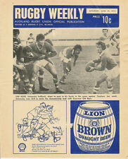 AUCKLAND RUGBY WEEKLY 24 Jun 1972 NZ MAG/PROGRAMME UNIVERSITY GRAMMAR NORTHCOTE