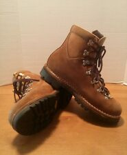 Vintage Meindl Hiking Boots Mens 8.5 Medium Width Brown Damage Italy Leather