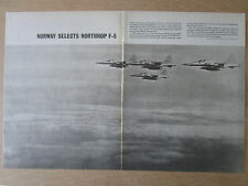 9/1964 PUB NORTHROP F-5 FIGHTER USAF ROYAL NORWEGIAN AIR FORCE ORIGINAL AD