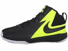 Nike Team Hustle Basketball Sneakers Black/Volt/White Youth Boys Size 12