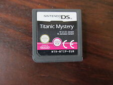 TITANIC MYSTERY              -----   pour DS  // CART