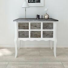 6 Drawer Chest Console Table Storage Furniture Unit Cabinet Living Room Bedroom
