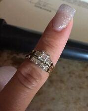 Price Cut! Gold 14K Diamond Ring Size 7 Written Appraisal, Beautiful 4.3g $810