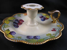 Limoges France Guerlain HandPainted Blackberry Finger Sconce Candle holder 2S19