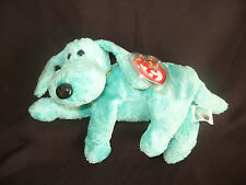 NWT TY BEANIE BABY DIDDLEY - THE GREEN DOG