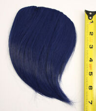 7'' Short Clip on Bangs Midnight Blue Cosplay Wig Hair Extension Accessory NEW
