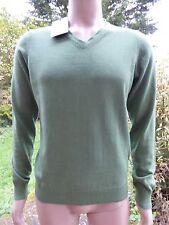 * Simon Carter * Para hombre Cachemira Verde Pullover Suéter con cuello en V M BNWT RRP £ 90