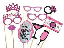 Photo Booth Props Weddings Parties Bachelorette Bride To Be Wedding Set x10PC