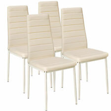 4x Chaise de salle à manger ensemble salon design chaises cuisine neuf beige