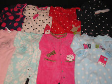 BABY GIRLS 6 MONTHS FLEECE ROMPERS CLOTHES  LOT GR19