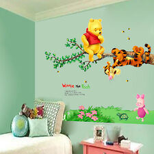 DIY Winnie the POOH Bear Vinyl Mural Wall Decals Sticker Kids Nursery Decor LXL