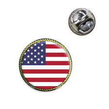 Flag of USA Lapel Hat Tie Pin Tack