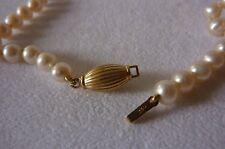 Superbe collier veritables perles de culture fermoir en or 18K