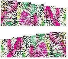 Nail Art Stickers Transfers Decals Multicolour Snakeskin (A-114)