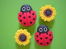 Sun Flower Jibbitz Shoe Charm Fit Crocs Jibbitz Bands Bracelet/Sandals w/Holes