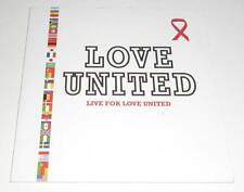 LOVE UNITED - LIVE FOR LOVE UNITED - 2002 CD 1 TRACK PROMO SINGLE IN CARD SLEEVE