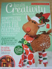 DOCRAFTS  CREATIVITY CRAFT MAGAZINE OCT 2014 20 CHRISTMAS CARDS GIFTS HALLOWEEN