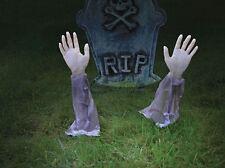 Brazo de césped estacas Zombie Halloween Decoración De Jardín cementerio muerto Tumba Ataúd