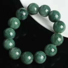 Natural Grade A Jade (jadeite) 15.5mm Oil- Green Bead Bracelet Blessing