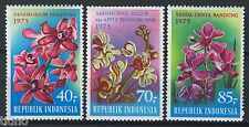 Indonesia 1975, Flowers, Orchids Full set MNH