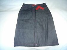BNWT FCUK AUTHENTIC WOMENS DARK INDIGO JEAN DENIM SKIRT SIZE UK 10