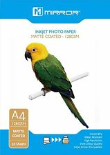 50 Sheets A4 Matte Photo Paper 128gsm - Inkjet Compatible