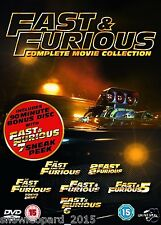 FAST AND FURIOUS MOVIES 1 2 3 4 5 6 + 7 PREVIEW COLLECTION DVD BOX SET NEW UK R2