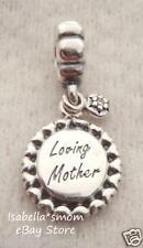NEW Genuine PANDORA Mom's Day LOVING MOTHER Silver CZ Dangle/Hanging Charm/Bead
