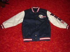 Steve And Barry USA Flag With Eagle Jacket Coat ~  Wool and Polyvinyl