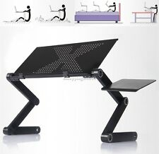 360°Adjustable foldable laptop Notebook Desk Table Fan hole Stand Portable Tray