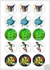 """15 x 2"""" BEN 10 FONDANT PRE CUT ICING Cup Cake Toppers Decorations"""