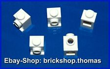 Lego 5 x Snot Konverter Stein 1x1 weiß - 4070 Bricks Headlight White - NEU / NEW